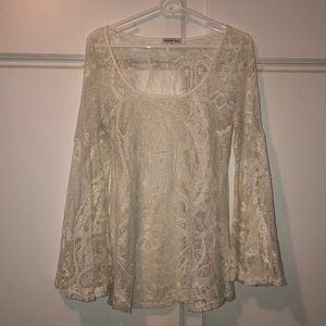 Lace top bell sleeves